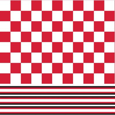 Red & White Tile Paper