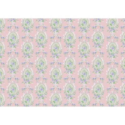 Pink Victorian Cameo Wallpaper