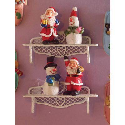 Festive Christmas Figurines, 4 pcs