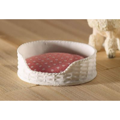 Pink & White Pet Bed