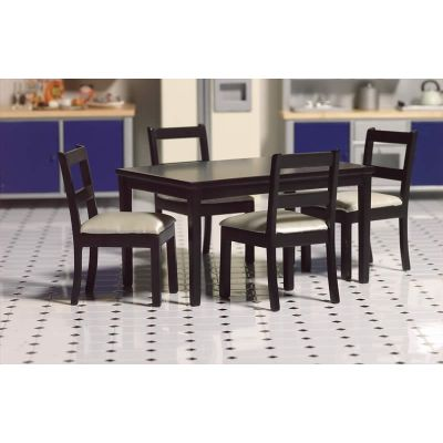 Black Dining Table & Four Chairs