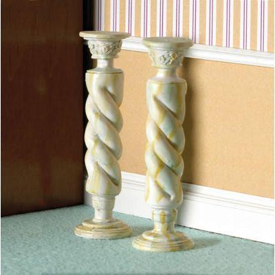 'Marble' Twist Column 2 pcs. (PR)