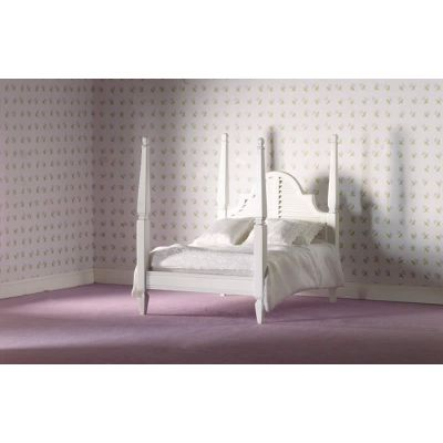 White Four-poster Double Bed