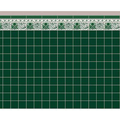 Green Oreton Tile Paper