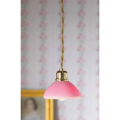 Pink Dome Ceiling Light