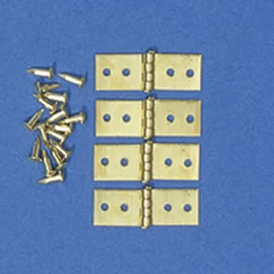 Hinges & Pins, 4 pieces, 5 x 15mm when opened up