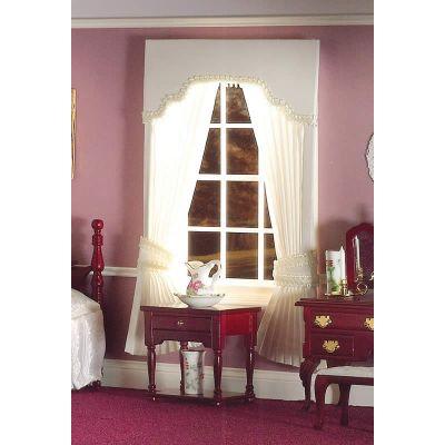 Cream Pleated Curtains with Pelmet