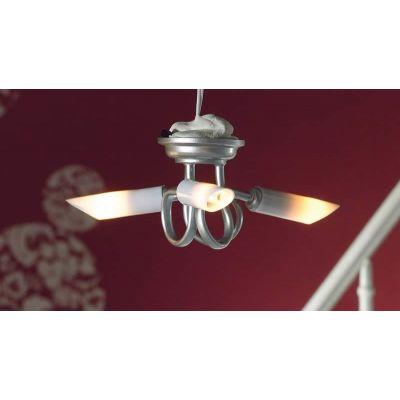 Modern 'Silver' Triple Ceiling Light