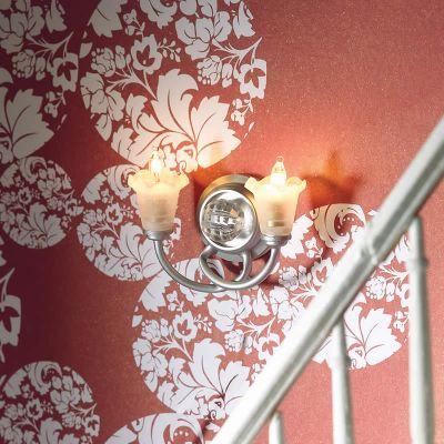 *Double 'Silver' Wall Light