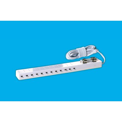 Twelve Light Socket Strip & Test Bulb with individual switches.