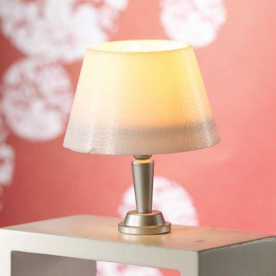 Modern 'Silver' Base Table Lamp