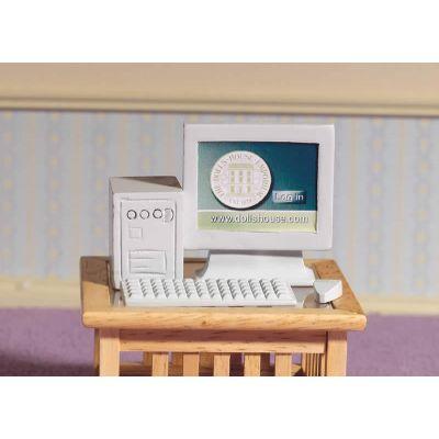 Grey Computer Set, 4 pcs (PR)