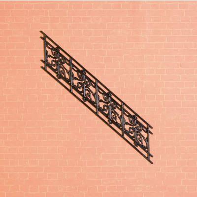 Angled Stair Railing, Plastic