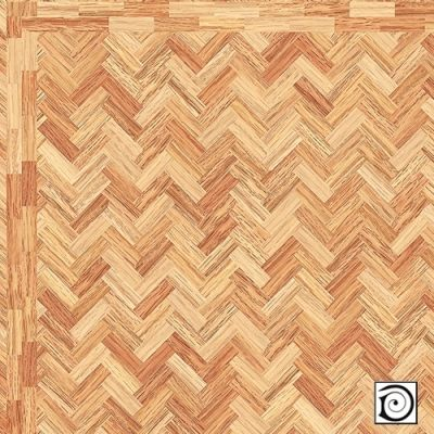 'Polished' Parquet Flooring Paper