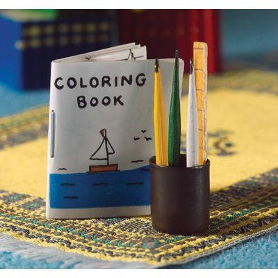 Colouring Book & Pencil Set