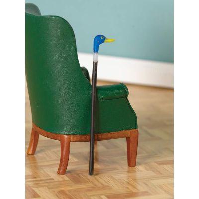 Blue Duck-Handled Walking Cane