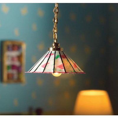 Pink & Green Hanging Light