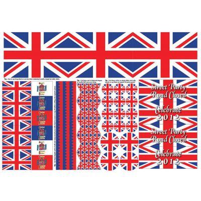 Union Jack Party Cut-out Sheet, A3