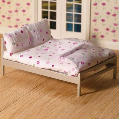 Dotty White Double Bedding Set, 4 pcs