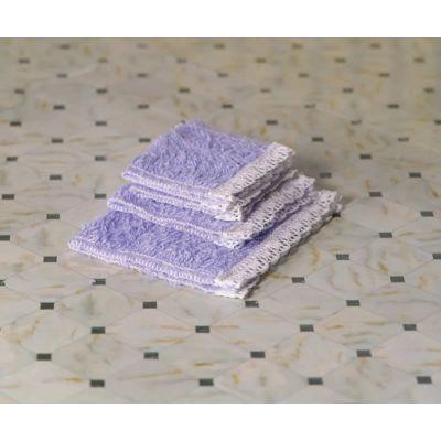 Lavender Purple Towel Set, 4 pcs