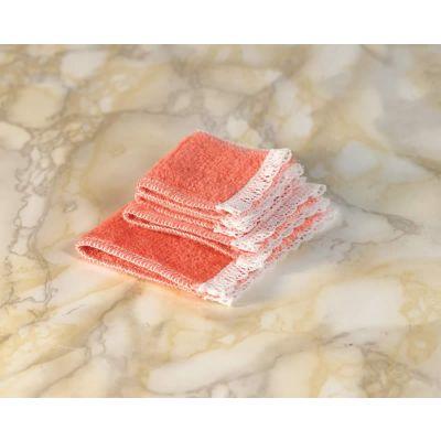 Peach Towel Set, 4 pcs