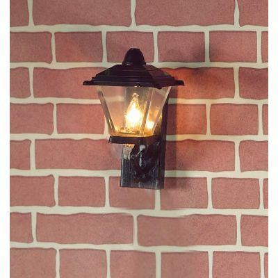 Black Outside lantern Wall Light