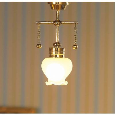 Hanging Light with Shaped Shade