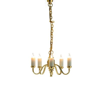 Five Arm Candle Ceiling Light