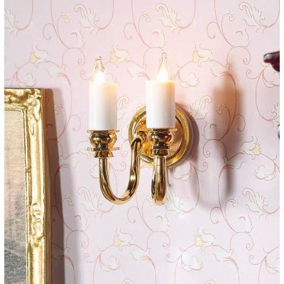 Twin Candle Wall Light