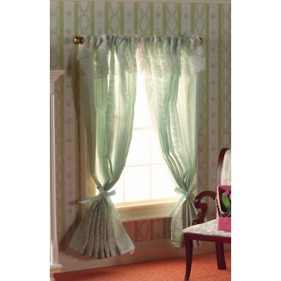 Turquoise Curtains on Rail