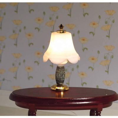 Table Lamp with Ornate Base