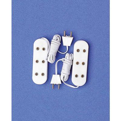 Three Light Socket Strips, 2 pcs