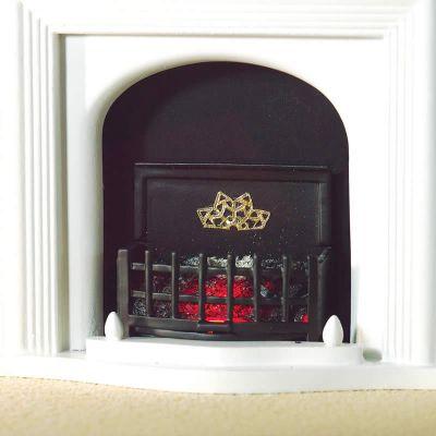 Lit Fire grate/ basket (PR) with Bulb