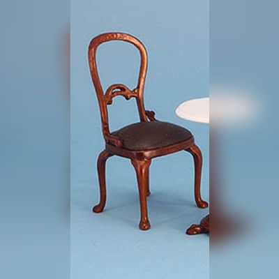 Chair with brown seat