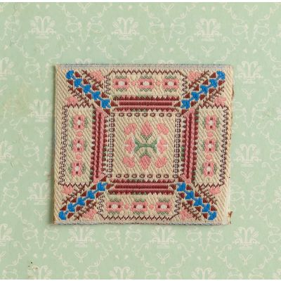 Pink Table Mat / Embroidery.