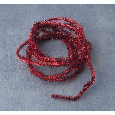 Red Christmas Tinsel. Length