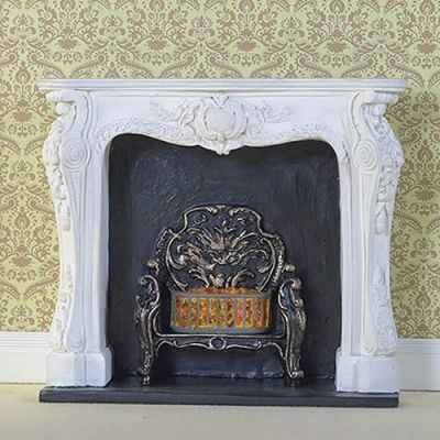 White Rococo-style Fireplace (PR)