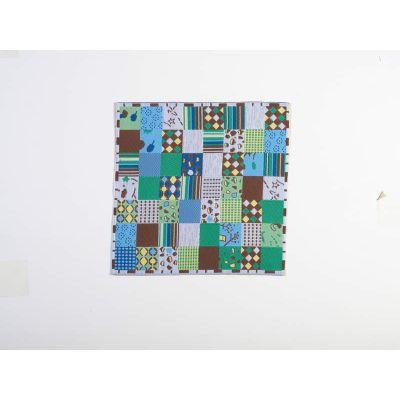Blue Patchwork Design Blanket/Rug
