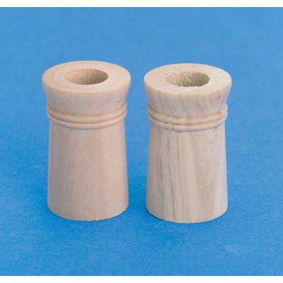 Wooden Chimney Pots, 2 pieces diameter
