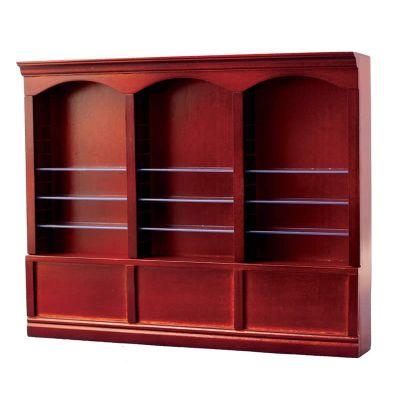 Mahog Deluxe Triple Shelves