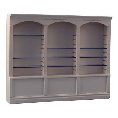 White Deluxe Triple Shelves