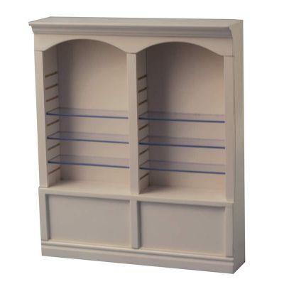 White Deluxe Double Shelves