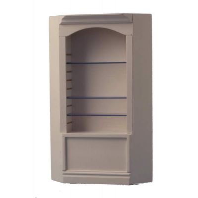 White Deluxe Single Corner Shelf