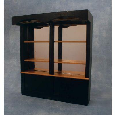 Black Bar Shelf Unit