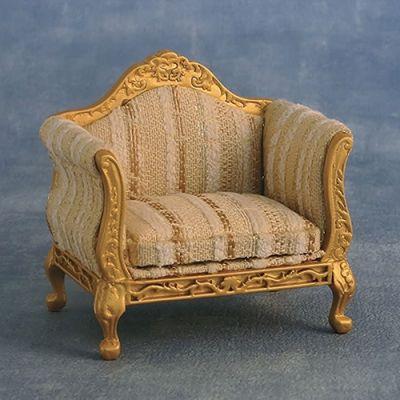 Gold & silver Louis XV  armchair