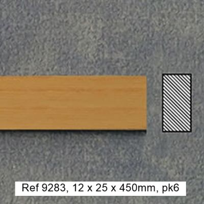 12 x 25 x 450mm timber, pk6