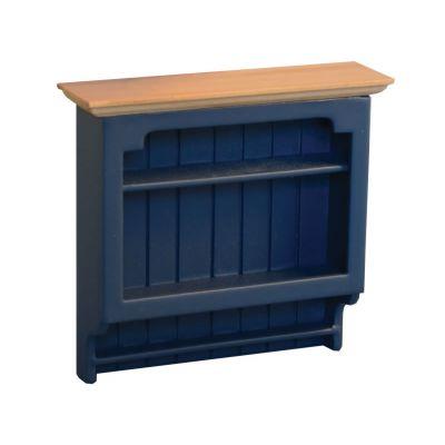 Shaker-style Shelves Blue/Pine