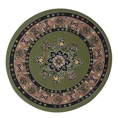 Large Circle Carpet Green 9353