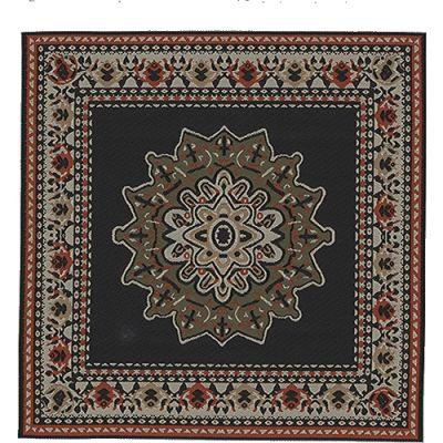 20x20cm Square Carpet Black 9355