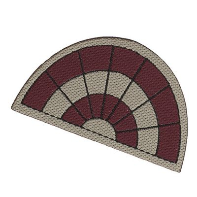 Oval Red Mat 9356